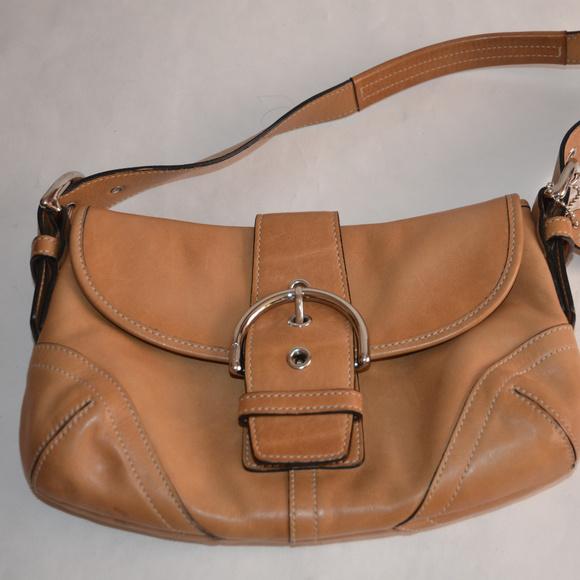 870c9aff5e Coach Handbags - Coach Small Tan Leather Soho Purse Hobo Handbag